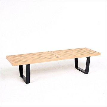 Inspired By George Nelson 60 Inch Bench Dimensions In 60w X 20d X 16h Seat Interior 48w X 20d Seat Height Selling Furniture Modern Bench Modern Classic