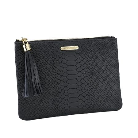 The All in One Bag, Black Embossed Python
