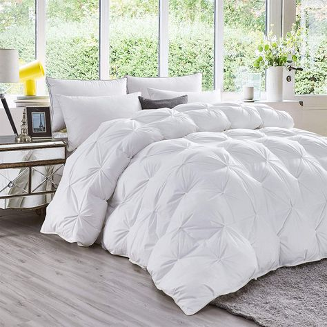 Luxurious All Season Goose Down Comforter Queen Size Duvet Insert