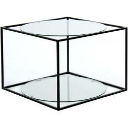 Beistelltisch Cody Transparent Schwarz 50x50 Cm Roller Beistelltisch Cody Transparent Schwarz 50 50 In 2020 Couchtisch Glas Glas Couchtisch Glascouchtische