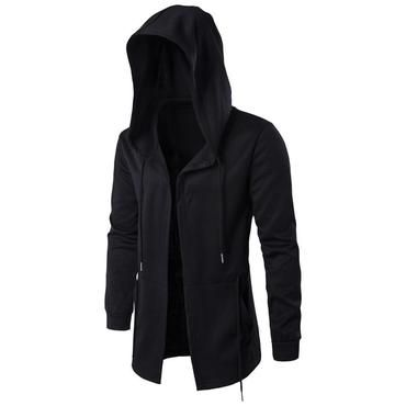 CGKUITER Women Fashion Hooded Jacket Long Sleeve Long Solid Zipper Coat with Pocket