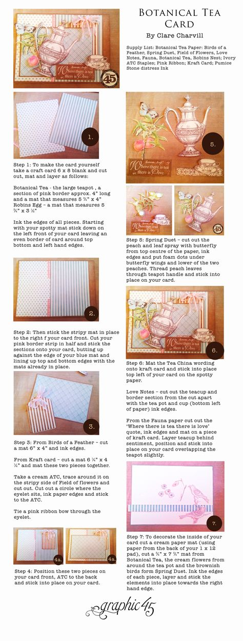7 Steps to a Fun Spring Card #graphic45 #cards #tutorials