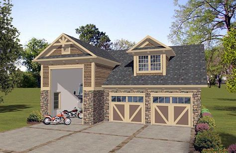 Garage Plans, Loft Designs, Garage Apartment Plans for Cars & RVs ...