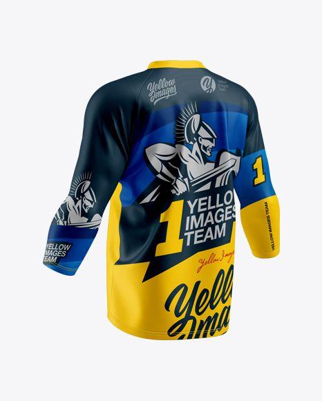 Download Men S Trail Jersey 3 4 Sleeve In Apparel Mockups On Yellow Images Object Mockups Shirt Mockup Clothing Mockup Design Mockup Free
