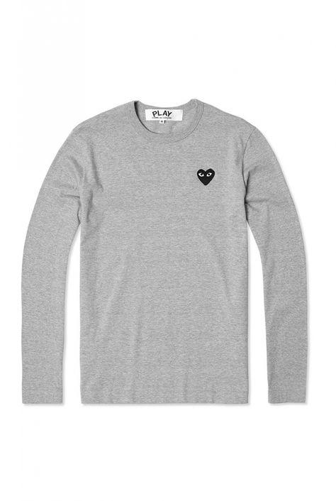 CDG Play CDG Play Mens T shirt Knit | Long sleeve tshirt