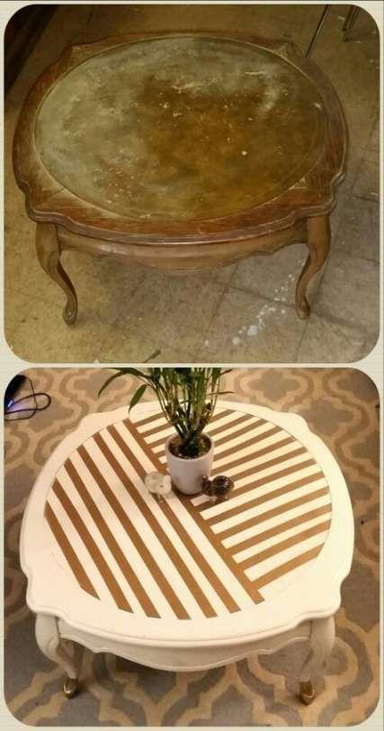 Nouveaux Meubles De Peinture Bricolage Avant Et Apres Les Magasins D Aubaines 22 Idees Nouveaux Meubles In 2020 Coffee Table Redo Revamp Furniture Painted Furniture