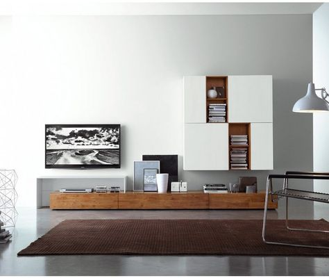 FGF Mobili Massivholz Lowboard 300 Cm Hangend Parawood