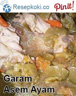 Resep Garang Asem Ayam Dibungkus Daun Pisang Resep Resep Makanan Ayam
