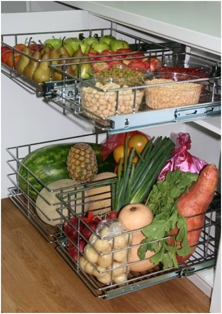 Fruit And Vegetable Storage Ideas In 2021 Fruit And Vegetable Storage Kitchen Vegetable Storage Vegetable Storage