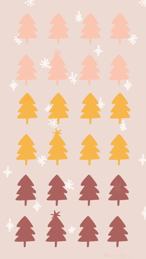 modern trendy Christmas wallpaper