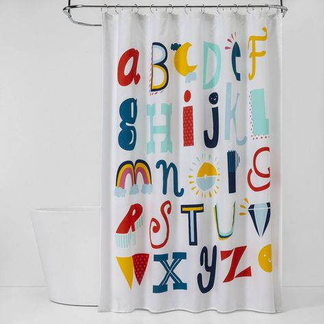 Abc S Shower Curtain Pillowfort In 2020 Kid Bathroom Decor