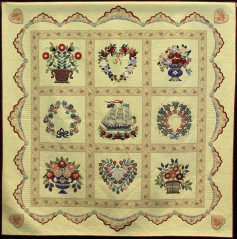 Love's Horizon , Made By Evelyn Crovo-Hall, 1st place - duet quilt - large, 2013 NQA show