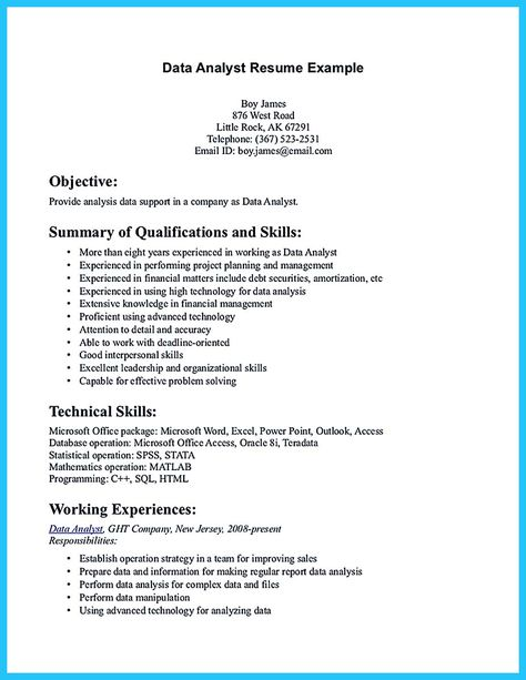 Software engineer resume includes many things about your skills - financial data analyst resume