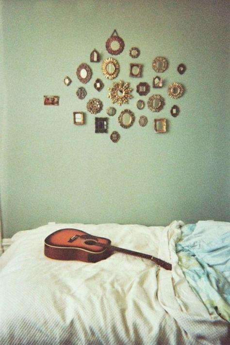 Wand Kunst spiegel gitarre idee