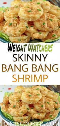 This low carb and keto bang bang shrimp recipe uses a flavorful breading of almond flour and parmesan. Weight Watchers Shrimp, Weight Watchers Menu, Weight Watcher Dinners, Skinny Recipes, Ww Recipes, Fish Recipes, Shrimp Recipes, Dinner Recipes, Keto Brownies