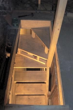 Charming Has Some Information On Locating A Set Of Attic Stairs That Can Be Utilized  In A Modular Home With An Attic.