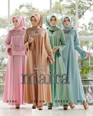 Model Baju Pesta Hijab 2020 : model, pesta, hijab, Gamis, Pesta, Elegan, Glamor, Maira, Ayyanameena, Model, Pakaian, Wanita,