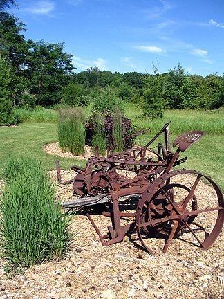Old Farm Equipment Makes Unique Yard Art Farm Landscaping Old Farm Equipment Farm Yard