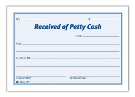Petty Cash Receipt Pad (Set of 16) Accounting Pinterest - petty cash voucher definition