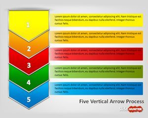 free five vertical arrows process diagram for powerpoint is a, Modern powerpoint