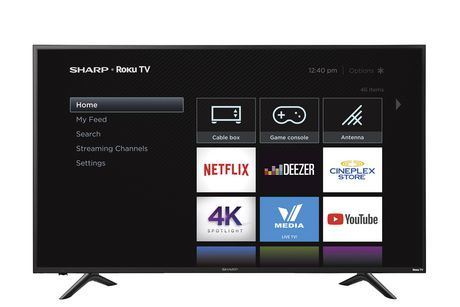 Sharp 60 Class 4k Ultra Hd Hdr Led Roku Smart Tv R6003 Smart Tv Roku Tv