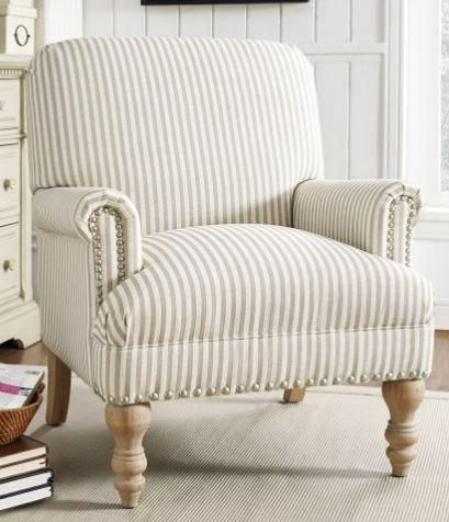 Farmhouse Striped Accent Chair Store Pickup Only Stripe Accent Chair Living Room Chairs Farmhouse Accent Chair