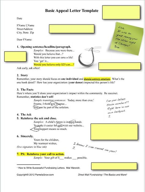 How to Write An Annual #Fundraising Appeal Letter! #Nonprofit - appeal letter template