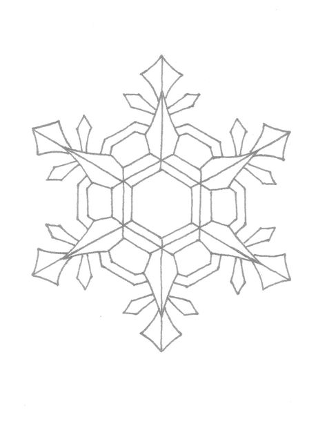 Snowflake Coloring Pages Snowflake Coloring Pages Kids