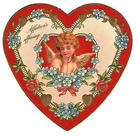 border around heart shape Victorian Valentines, Vintage Valentine Cards, Vintage Cards, Vintage Postcards, Vintage Images, Vintage Clip Art, Heart Illustration, Vintage Heart, Cute Stickers