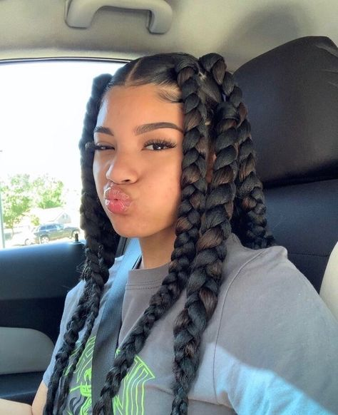 Black Girl Braided Hairstyles, Cute Curly Hairstyles, Black Girl Braids, Baddie Hairstyles, Braids For Black Hair, Girls Braids, Box Braids Hairstyles, Protective Hairstyles, Girl Hairstyles