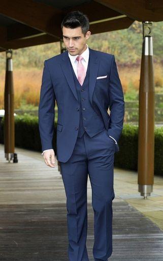 Slimfit Blue Wedding Suit Hire In Milton Keynes And Surrounding