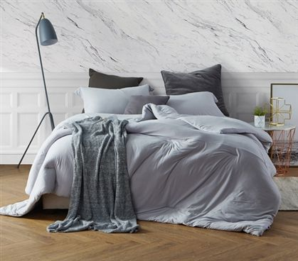 Best College Bedding One Of A Kind Tundra Gray Bare Bottom Twin Xl Comforter With Extra Length And Extra Width With Images Bed Linens Luxury College Bedding Sets