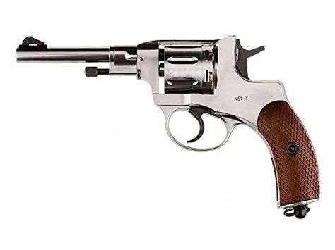 Gletcher NGT CO2 Pellet Revolver Silver air pistol * Check out this