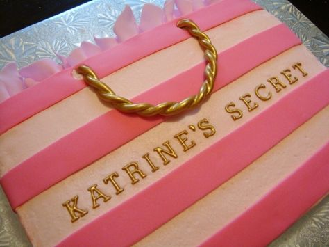Victoria's Secret bridal shower cake. (or any other shopping bag cake)  @Teri McPhillips McPhillips McPhillips McPhillips Lucero-Serrano