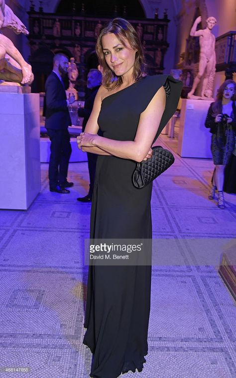 Yasmin Le Bon attends the Samsung BlueHouse private view of the 'Alexander McQueen Savage Beauty'...