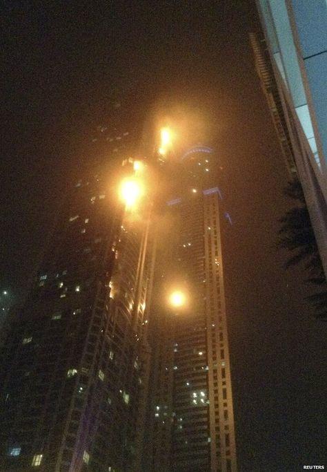 Fire rips through Torch skyscraper in Dubai