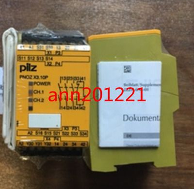 1pc New Pilz Safety Relay Pnoz X3 10p 24vacdc 777314 Relay Ebay Things To Sell