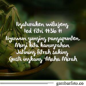 Gambar Kata Ucapan Idul Fitri Bahasa Jawa Dp Bbm 2018 Bahasa