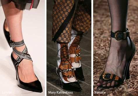 Fall/ Winter 2018-2019 Shoe Trends: Shoes & Boots with Buckles and Clasps