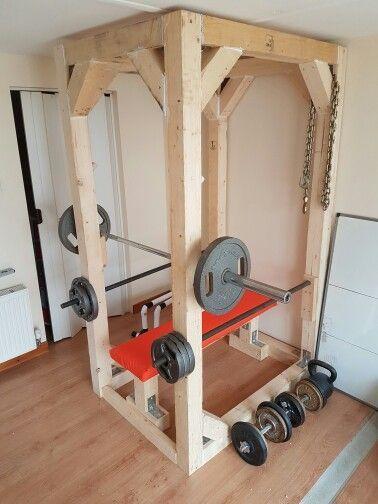 Diy Squat Bench Rack Salle De Sport Maison Salle De Gym Equipement D Exercice