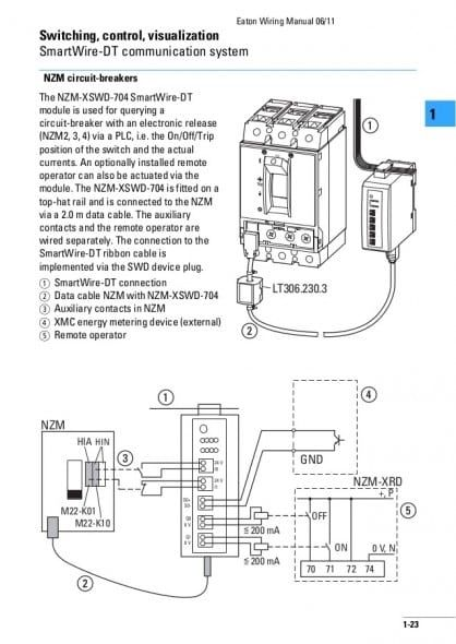 Shunt Trip Breaker Wiring Diagram Trong 2020
