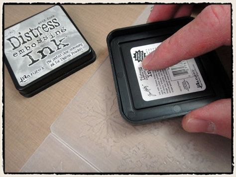 use embossing ink with your embossing folder #pinterest