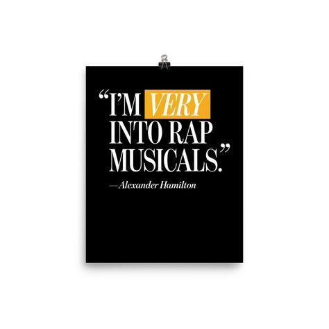 I'm Very Into Rap Musicals Poster – Mischief Merch