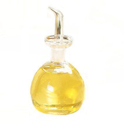 Eleton Round Pot Shape Oil And Vinegar Bottle Glass Olive Oil