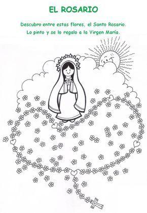 Virgen De Schoenstatt Infantil Buscar Con Google Rosario Para Ninos Rosarios Virgen Maria Para Ninos