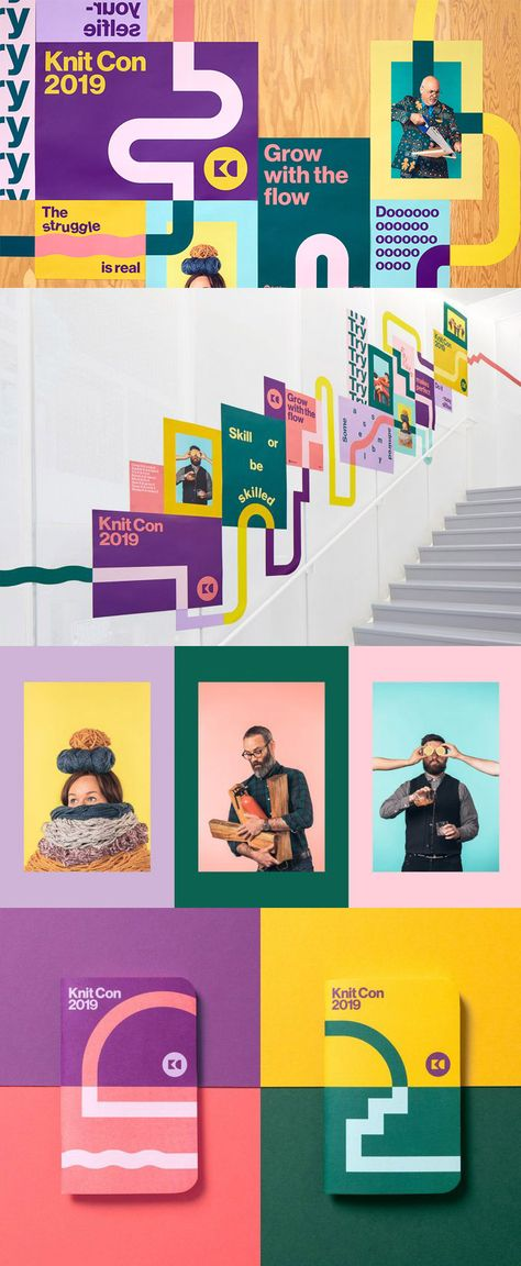 Pinterest Knit Con Event Branding by Hybrid Design