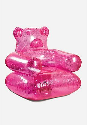 Hot Pink Gummy Bear Inflatable Chair Hot Pink Room Inflatable Furniture Inflatable Chair