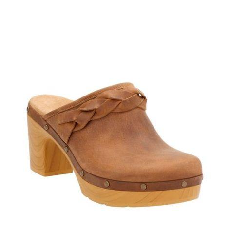 Ledella Meg Light Tan Leather womens clogs | Womens clogs