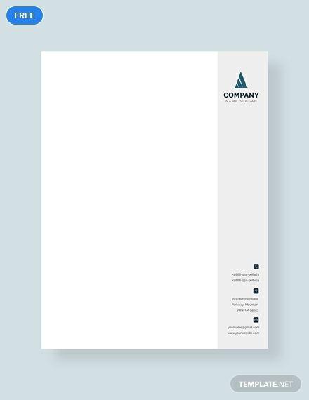 Free Business Letterhead Format Letterhead Format Letterhead