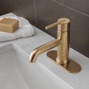 Bathroom Faucets You Ll Love Wayfair Single Hole Bathroom Faucet Gold Bathroom Faucet Brass Bathroom Faucets